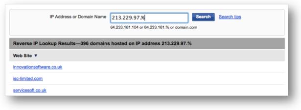 Domaintools Reverse IP Lookup