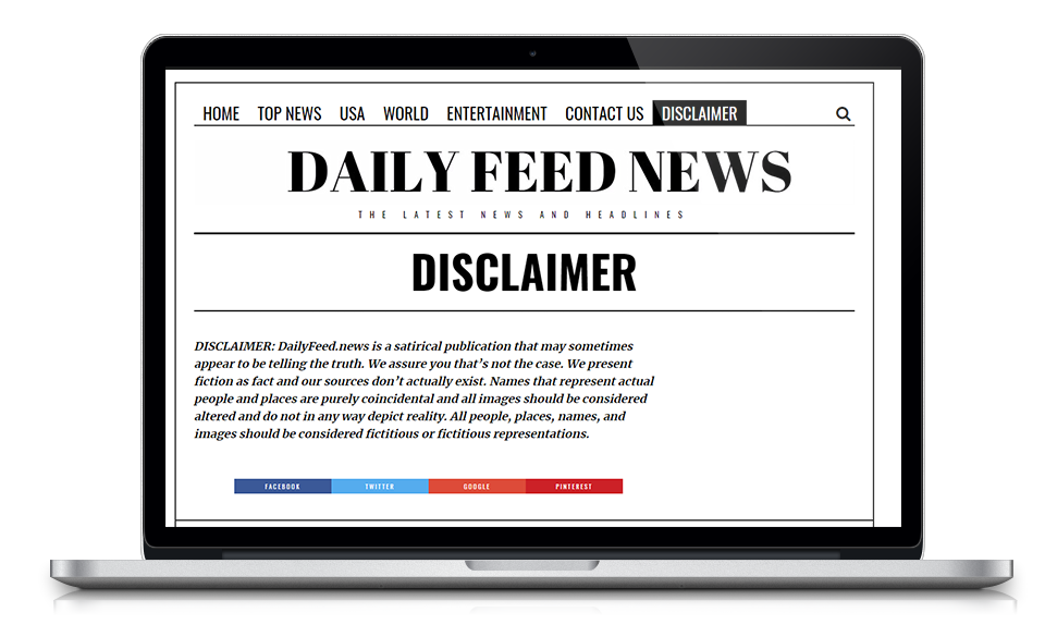 Daily feed news is a site that uses fake headlines as satire