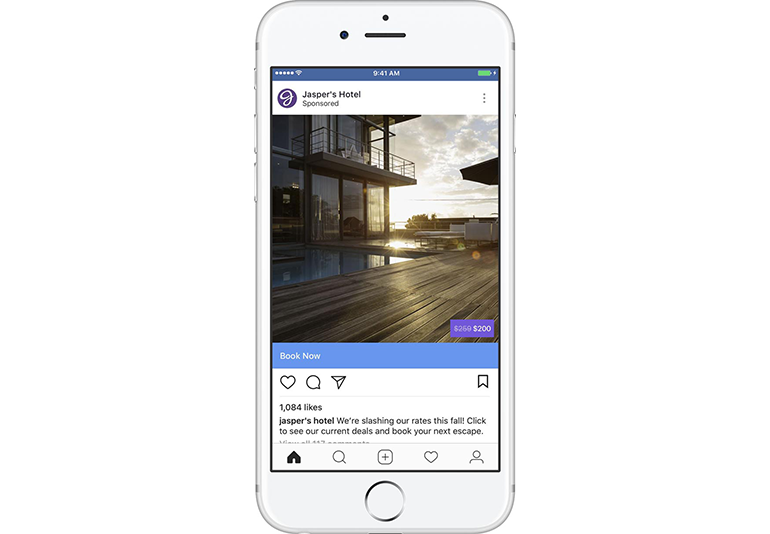 Advertising with Facebook's trip consideration